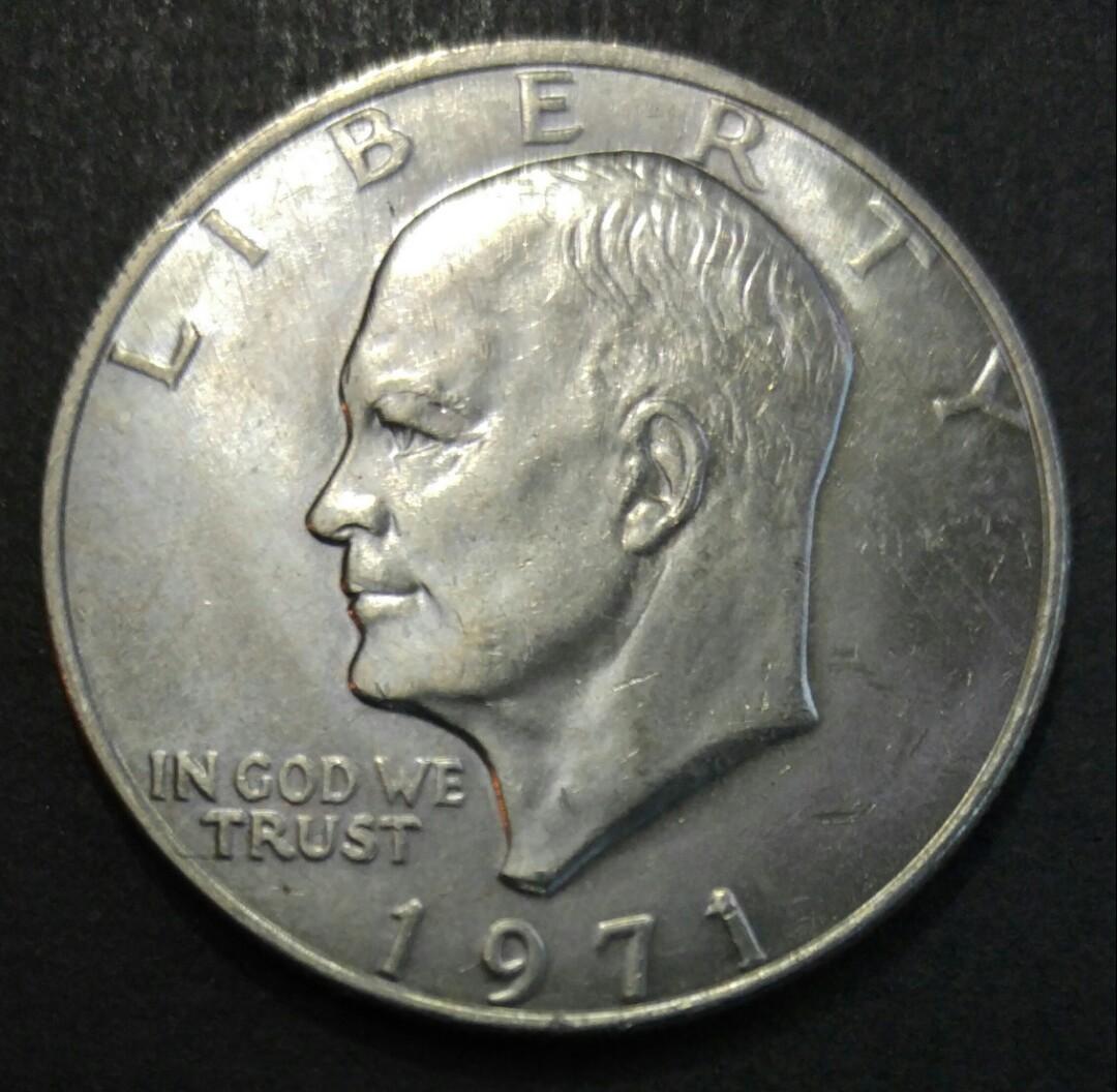 1971年 美國艾森豪威爾$1美金 硬幣一枚 (71-02)