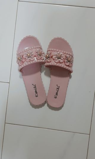 🌸 Pink Flowers Slippers 🌸