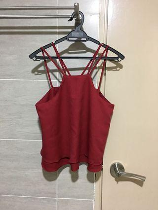 Red Strappy Top