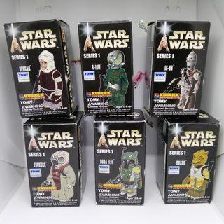 (Complete set) Kubrick Toy Bounty Hunter Star Wars Series 1 (genuine/ sealed packs)  SET of 6