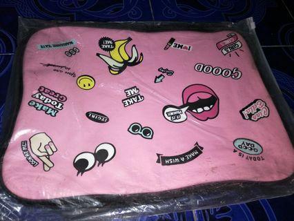 #BAPAU Tas koper jinjing pink motif