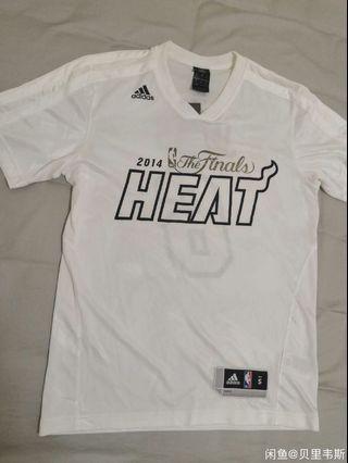 Nike Tee NBA finals 熱火2014 占士球員版熱身 practice