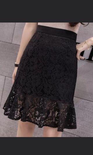 Black Lace Skirt #CarousellBetter