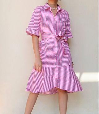 Stripes Midi Dress