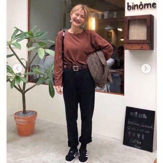 🚚 92pleats 寬鬆直筒黑褲 尺寸S