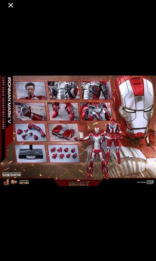 Hot toys Iron man Mark 5 diecast bib