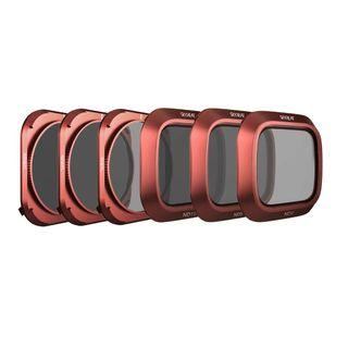 SKYREAT Upgraded Mavic 2 Lens ND Filters Set Compatible for DJI Mavic 2 Pro Filter 6-Pack (ND4, ND8, ND16, ND4PL, ND8PL, ND16PL) ,Rotatable and Works with Gimbal Cover  #1277
