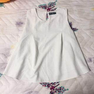 Dressabelle white flare top