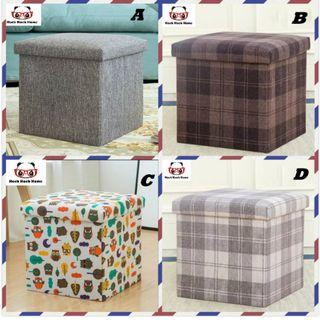 Storage Stool / Fabric Stool / Storage Box Stool