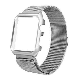 🚚 BNIB Apple Watch Stainless Steel Milanese Loop with built-in S/S Bumper Case