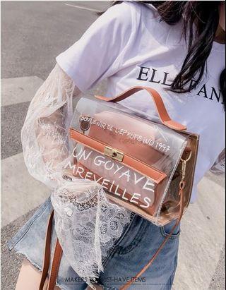 ♥️韓版時尚透明果凍子母單肩包 #65 #顏色