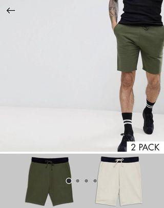 ASOS DESIGN Jersey Skinny Shorts with Contrast Waistband
