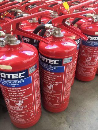 2nd hand 4kg ABC powder fire extinguishers ( PROTEC )
