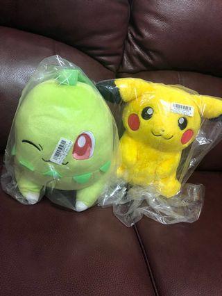 (全新) Pokemon- Pikachu&Leafeon