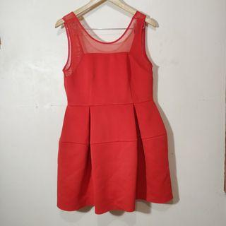 Red Zalora dress