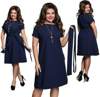 *In Stock* 2XL Plus Size Navy Blue or Dark Green Dress