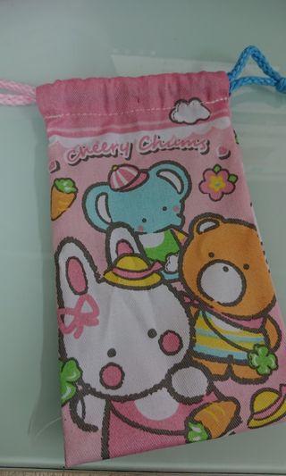 (包郵)cheery chums 小布袋 18.5 X 11cm