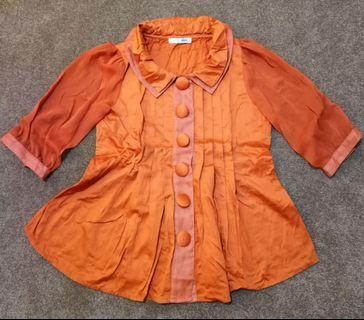 HnM Orange Blouse