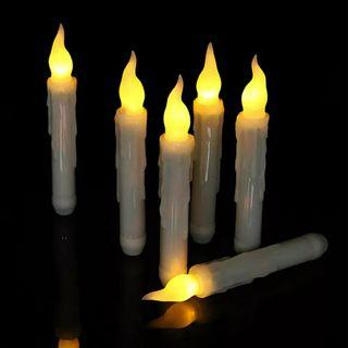 Remote controlled electronic flickering candles