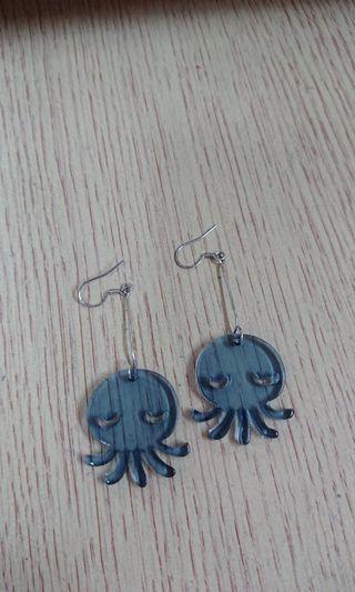 (包郵)八爪魚耳環