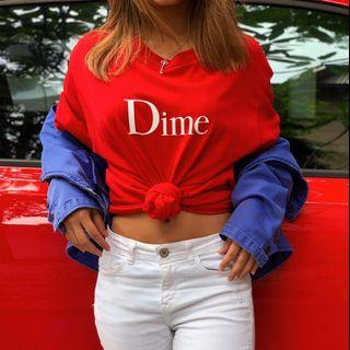 Dime red t-shirt size M (unisex)