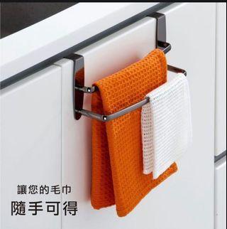 🚚 櫥櫃 門板 掛毛巾架 廚房 居家 收納 (新品轉賣)