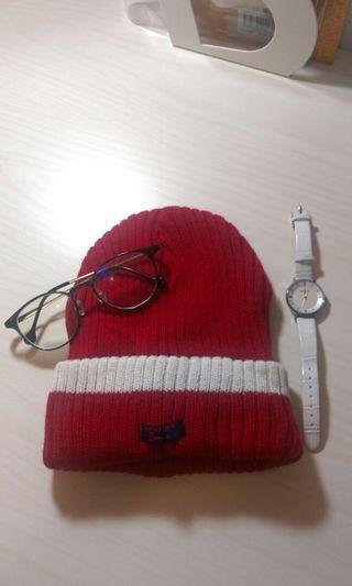NET紅色毛帽