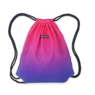 ombre drawstring bag