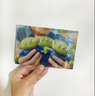 迪士尼Disney Toy Story 反斗奇兵 玩具總動員 三眼仔 little green men postcard 明信片
