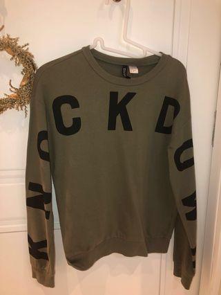 "🚚 H&M Long sleeve ""KNOCK DOWN"" shirt"