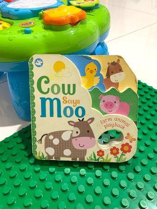 Cow says moo ( import book)