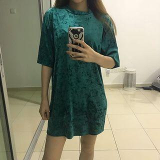 Monki oversized suede t shirt dress