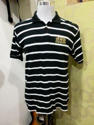 FUBU polo shirt stripes