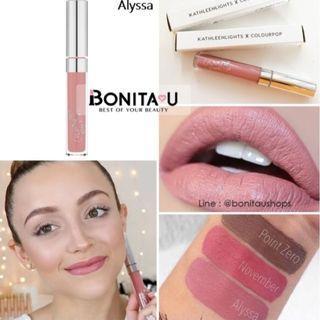 🚚 Kathleen lights X Colourpop Ultra Satin Liquid Lip in Alyssa