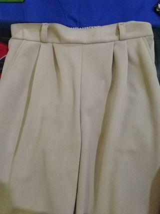 #Bapau Celana bahan motif bawah kembang