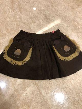 獅子口袋咖啡短裙