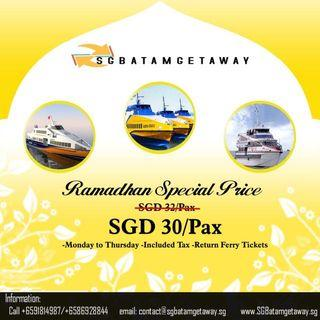Ramadhan 2 Way Ferry Tickets Inclusive of Tax
