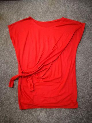 Red blouse #bapau