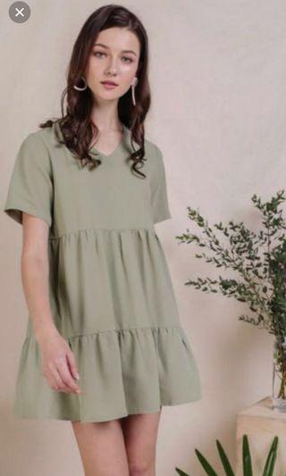 🚚 The Tinsel Rack TTR - Babydoll dress in Sage Green