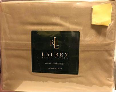 Ralph Lauren Queen Sheet Set (Beige)