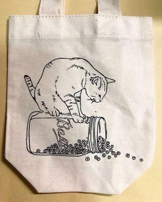 貓貓圖案小袋子