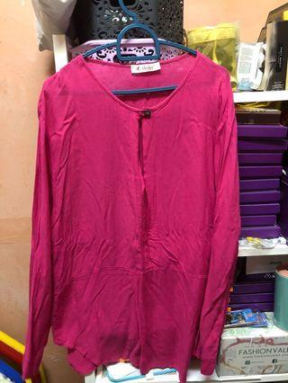 #GayaRaya Hot Pink Blouse
