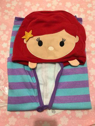 美人魚Tsum Tsum有帽披毯
