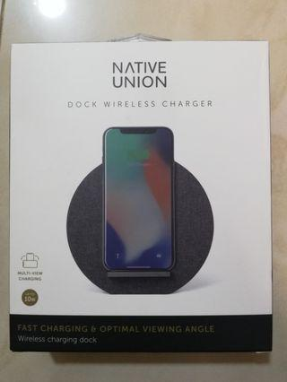 Native union iPhone Dock Wireless Charger iPhone 藍芽叉電器