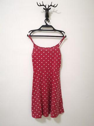 Red dotted dress