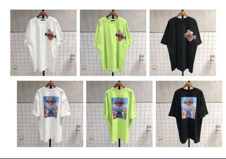 韓國T-shirt  $268 One size: 胸圍 126cm 前衣長 82cm 後衣長 84cm