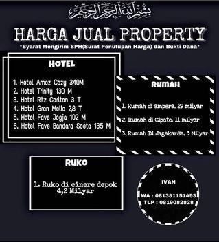 Daftar Rumah dan Hotel dijual