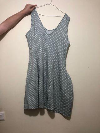 灰色波點裙