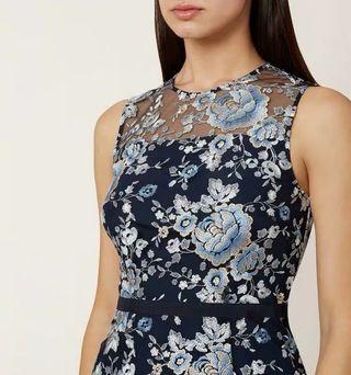 Hobbs embroidered dress