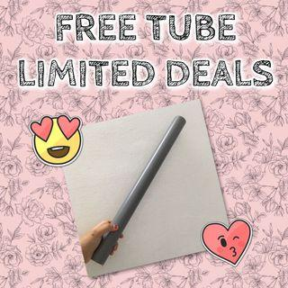 FREE TUBE FOR POSTER